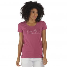 Regatta Filandra T-Shirt Red Violet