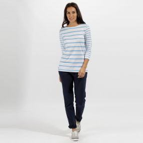 Regatta Parris Coolweave Cotton T Shirt White Hydrangea