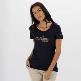 Regatta Filandra II Coolweave Cotton T Shirt Navy