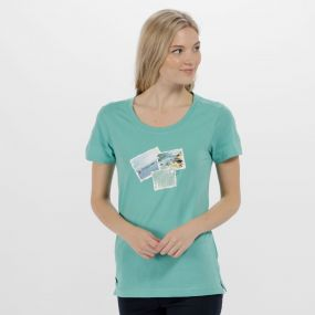 Regatta Filandra II Coolweave Cotton T Shirt Jade Green