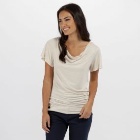 Regatta Francheska Coolweave Hybrid T Shirt Light Vanilla