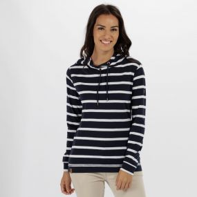 Regatta Modesta Hooded Coolweave Cotton Top Navy