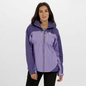 Regatta Women's Calderdale II Waterproof Shell Jacket Paisly Elderberry