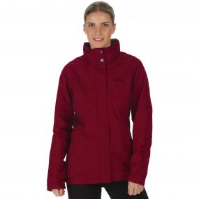Regatta Daysha Waterproof Shell Jacket Dark Pimento Fig