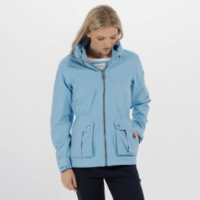 Regatta Nardia II Lightweight Waterproof Jacket with Concealed Hood Hydrangea