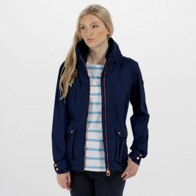 Regatta Nardia II Lightweight Waterproof Jacket Navy