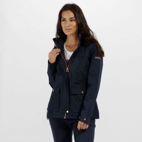 Regatta Landelina Lightweight Waterproof Jacket Navy