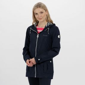 Regatta Bayeur II Lightweight Waterproof Hooded Jacket Navy