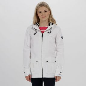Regatta Bayeur II Lightweight Waterproof Hooded Jacket White