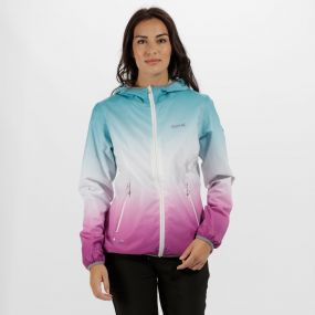 Regatta Leera II Ombre Waterproof Shell Jacket Aqua