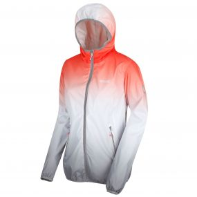 Regatta Leera II Ombre Waterproof Shell Jacket Neon Peach