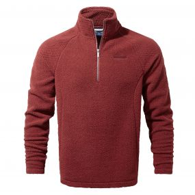 Craghoppers Barston Half Zip Carmine Red