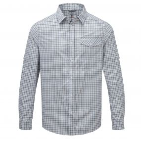 Craghoppers Nosi Check Shirt Pool Blue Combo