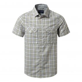 Craghoppers Wensley Short Sleeved Shirt Quarry Grey Combo