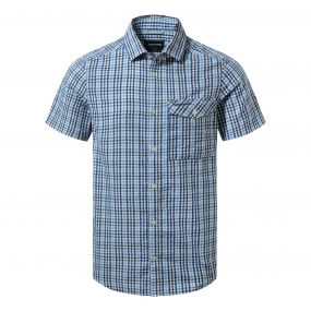 Craghoppers Warby Short Sleeved Shirt Deep Blue Combo