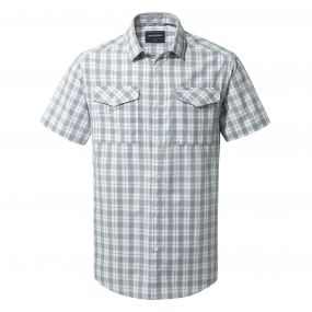 Craghoppers Crooble Short Sleeved Shirt Cement Check