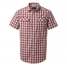 Craghoppers Crooble Short Sleeved Shirt Red Earth Check
