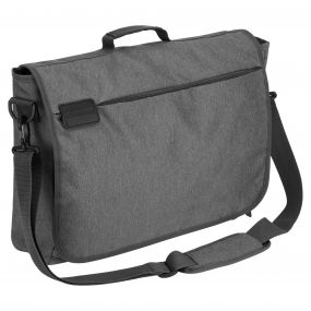 17' Commuter Lap Top Bag With RFID PROTECTION Quarry Grey