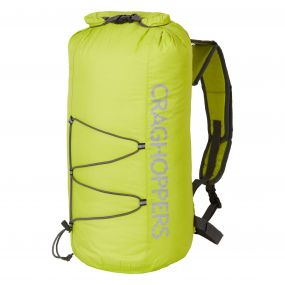 Craghoppers 15L Packaway Waterproof Rucksack Yellow Quarry