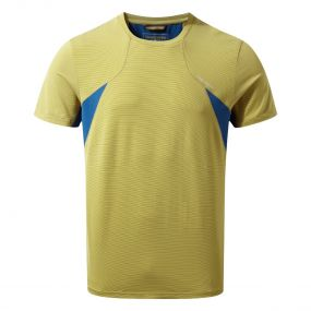 Craghoppers Fusion Short-Sleeved Tee Sulphur Yellow Combo