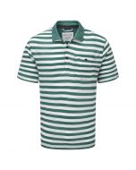 Craghoppers Fraser Short Sleeved Polo Lake Green Calico